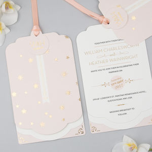 Stardust Foil Luxe Invitation Suite - invitations