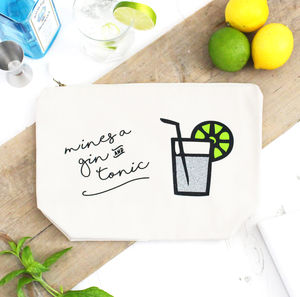 'Mines A Gin And Tonic' Glittery Cocktail Bag - gifts for her