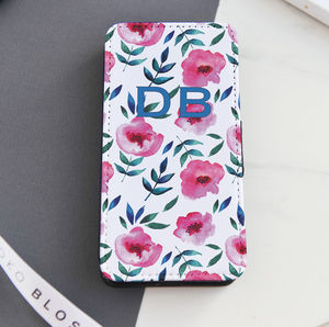Personalised Floral Flip Phone Case - phone covers & cases