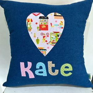 Girls' Personalised Cushion - children's room