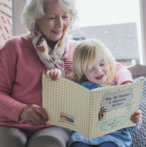 Personalised 'Why My Grandma Is Brilliant' Gift Book - gifts for grandmothers