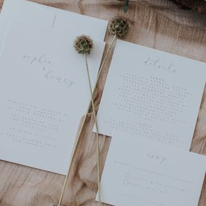 Shine Wedding Invitation Set - wedding stationery