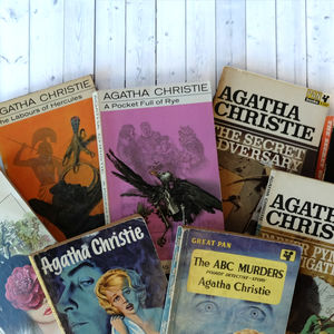 Vintage Agatha Christie Mini Library - living & decorating
