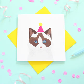 Rag Doll Cat, Birthday Card