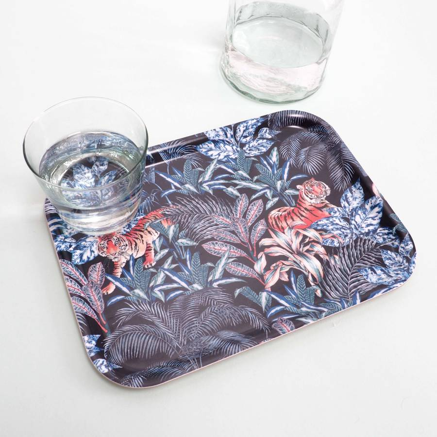Tiger Print Tea Time Tray
