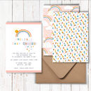 Personalised Baby Shower Rainbow Invitations