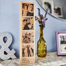 Personalised Solid Oak Wooden Photo Strip
