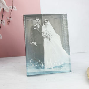 Anniversary Acrylic Photo Block
