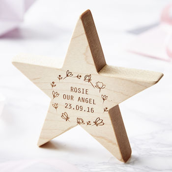 Personalised Meadow Baby Keepsake Star