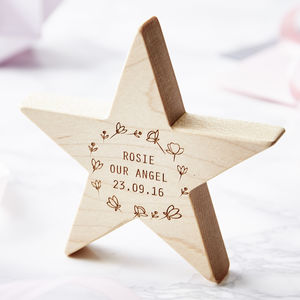 Personalised Meadow Baby Keepsake Star - ornaments