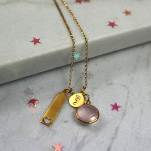 Gold Tiny Souls New Baby Necklace - necklaces & pendants
