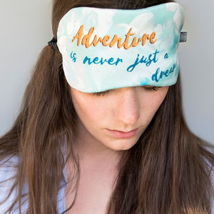'Dreaming Of Adventure' Silk Eye Mask - bedding & accessories