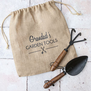Personalised Hand Forged Iron Garden Tool Set - gifts for grandparents