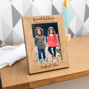 Personalised Grandchildren Photo Frame With Photo