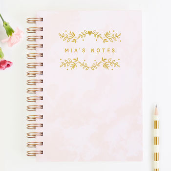 Personalised Notes Notebook Foil