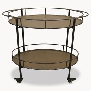 Granville Metal Oval Drink's Trolley With Shelf - kitchen