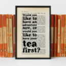 Peter Pan 'Adventure' Tea Lover Travel Quote Print
