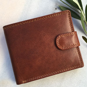 Handmade Rfid Tan Leather Wallet