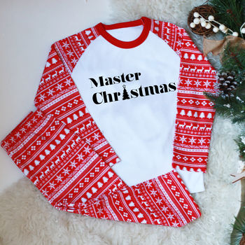 Master/ Little Miss Christmas Kids Pyjamas