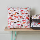 Flamingos And Hedgehog Cushion