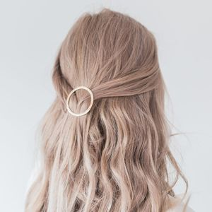 Circle Gold Hair Clip - enchanted wedding trend