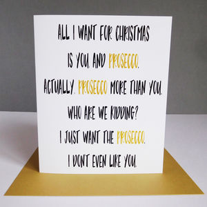 Funny Prosecco Christmas Card - cards & wrap