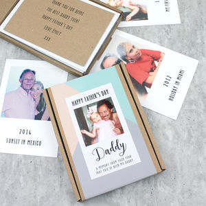 Personalised Polaroid Photos Father's Day Keepsake Gift
