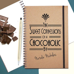 'Chocoholic' Personalised Notebook
