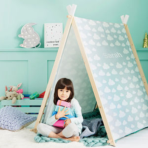 Personalised Children's Wooden Play Tent - christmas catalogue