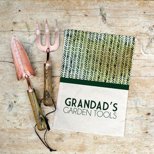 Personalised Copper Garden Tool Set - for grandfathers
