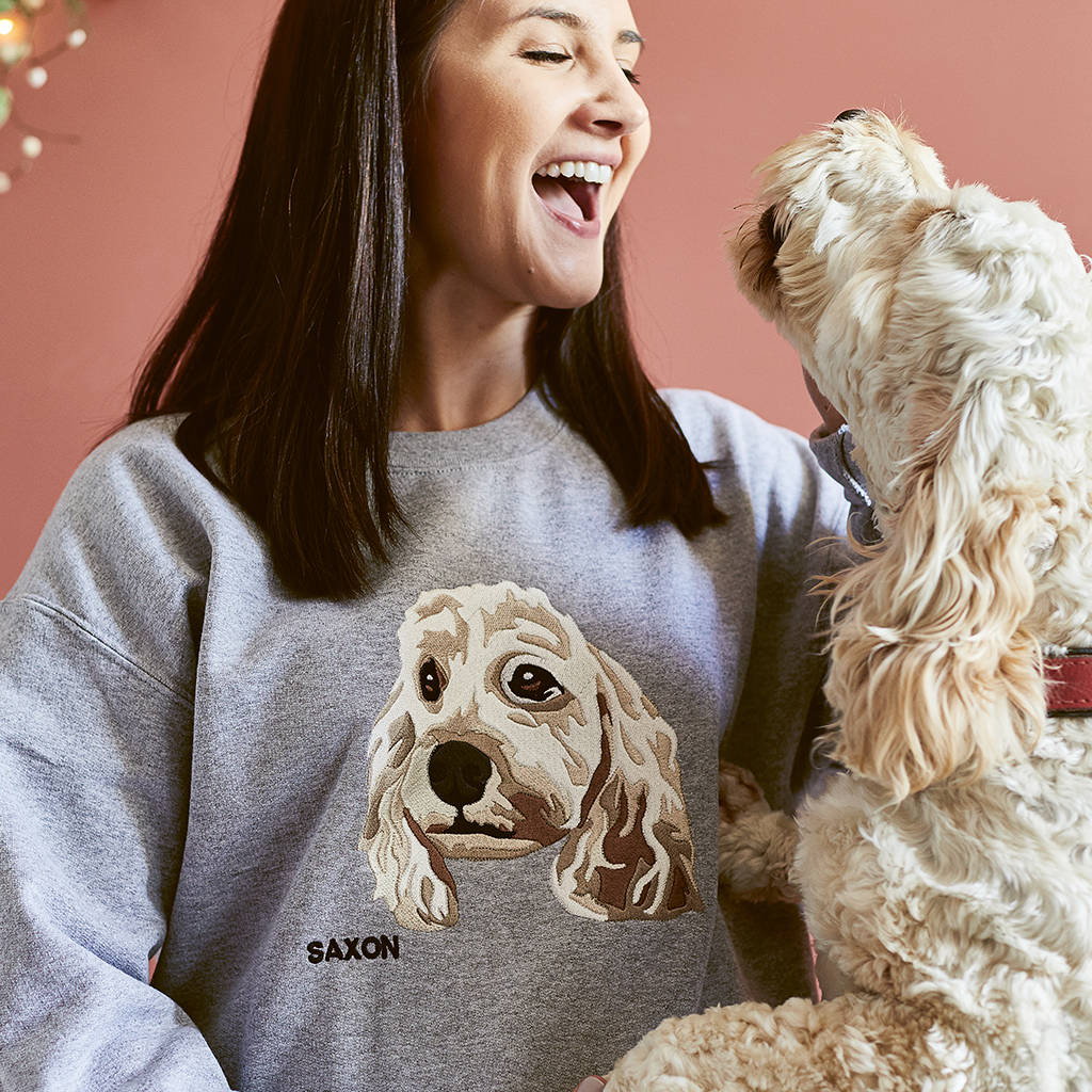 Personalised Pet Embroidered Sweatshirt by Hoop N Loop
