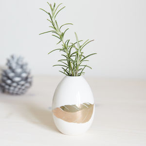 Egg Vase With Feather Motif - tableware