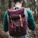 'Wild Camping' Burgundy Rucksack And Tote