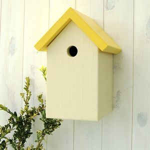 Handmade Simply Colour Bird Box - bird houses