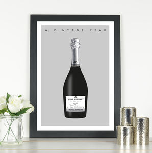 'A Vintage Year' Personalised Prosecco Print - food & drink prints