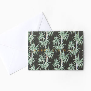 Tropical Palm Tree Patterned Birthday Card - new in