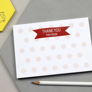 Personalised Children's Thank You Notepad - thank you gifts