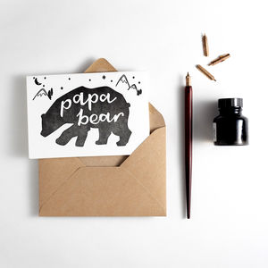 'Papa Bear' Letterpress Card