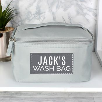 Personalised Men's Wash/Grooming Toiletries Bag