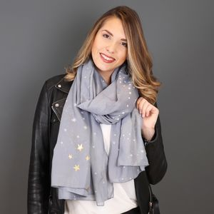 Personalised Starry Nights Print Scarf - winter sale