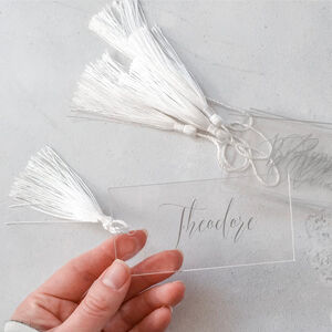 40 Acrylic Name Tags With Tassels