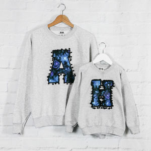 Mother And Child Personalised Galaxy Sweatshirt Set