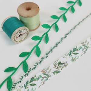 Vine Leaf, Gift Wrapping Ribbon Collection