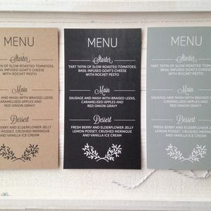 Perfect Day Wedding Menu Card