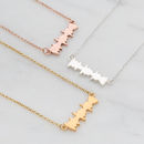 'I Love You' Secret Message Soundwave Necklace