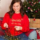 'Sparkle All The Way' Glitter Unisex Sweatshirt Jumper