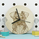 Schnauzer Dog Portrait Wall Clock