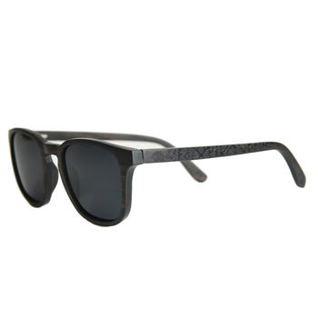 Ebony Round Wooden Sunglasses