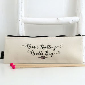 Personalised Mum's Knitting Needle Bag - new in home
