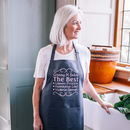 Personalised You're The Best Apron